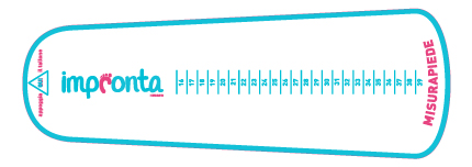 Impronta misuratore piede