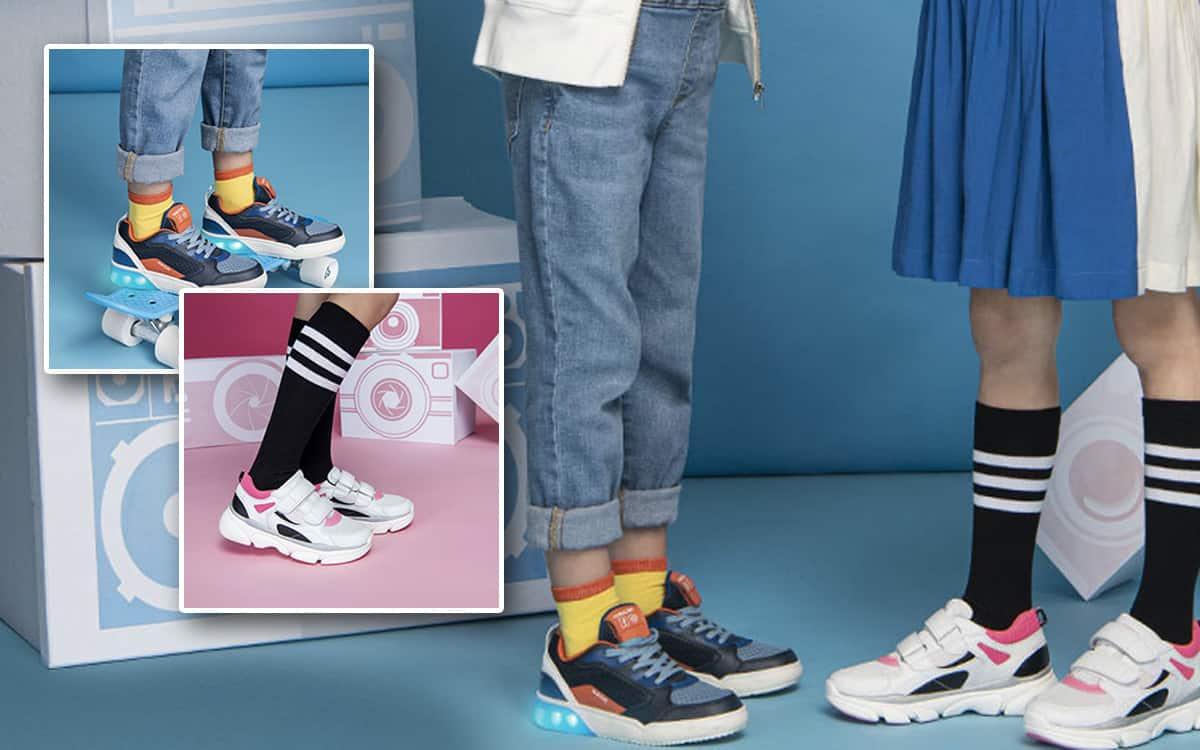 Impronta Herber negozio scarpe Geox per bambini a Lugano